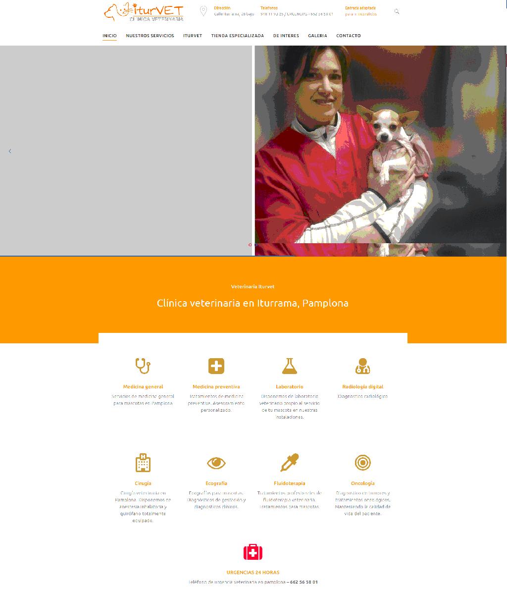 sitio web veterinario