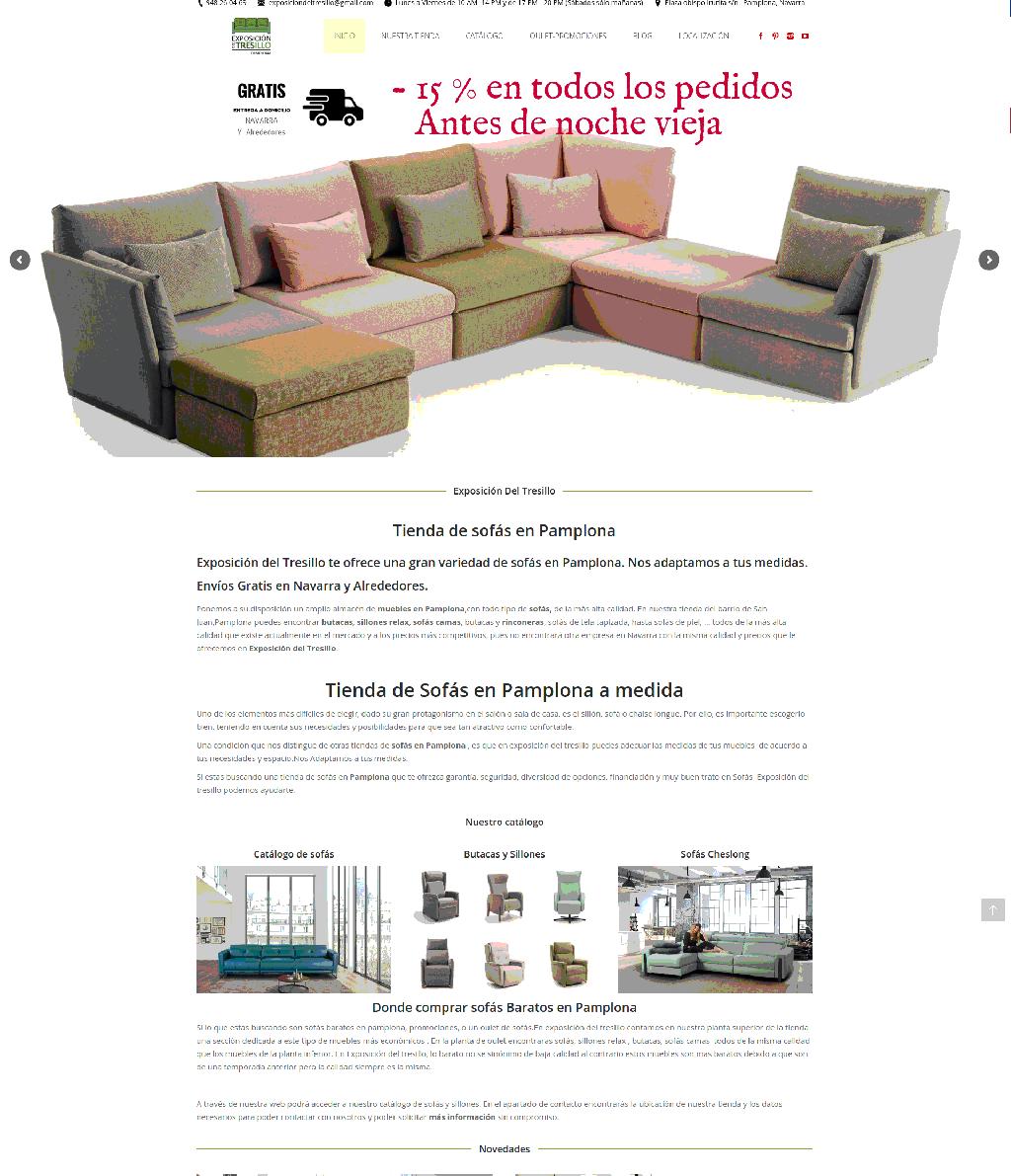 web de tiendas diseño