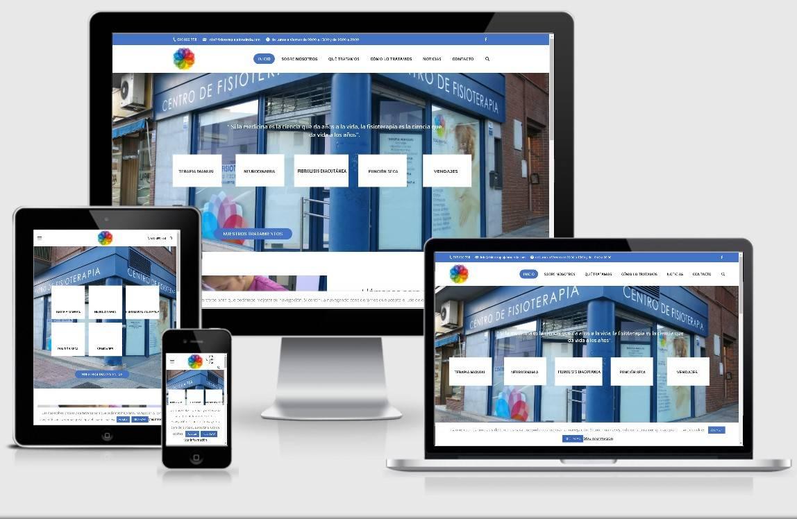 diseño web centro fisioterapias